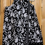 BlackWhiteDamaskPolkaDotTrimPillowcaseDress