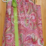 CoralGreenPaisleyPillowcaseDress