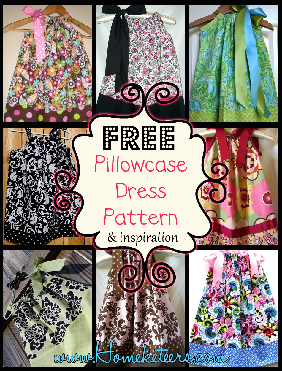 This is a picture of Zany Free Printable Pillowcase Dress Pattern