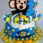 Mod-Monkey-Head-Tiered-1st-Birthday-Cake