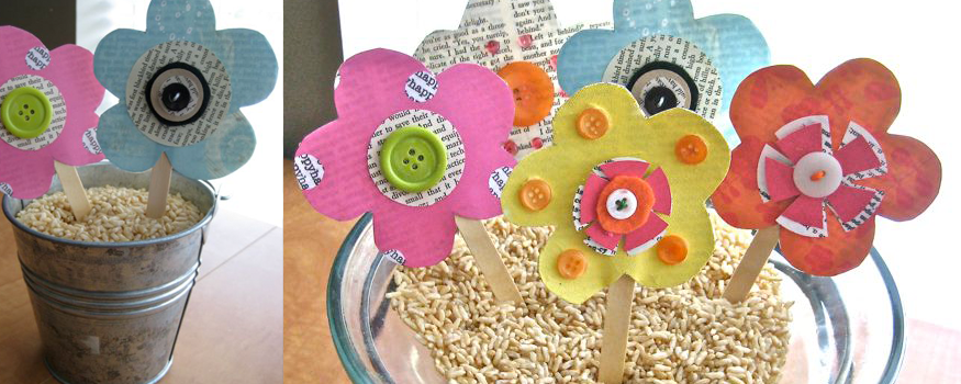 Summer {paper} Flower Garden Tutorial