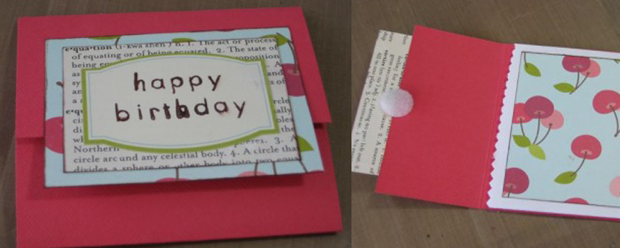 How to make a quick and easy gift card holder