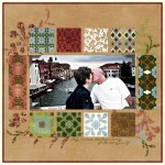 marisa-lerin-venice-scrapbook-page-blue-green-pink-tan-italy-kiss