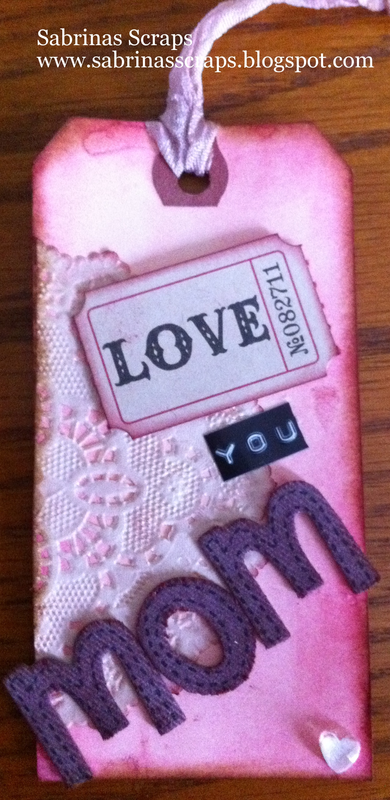 Mothers Day Tag and Notebook