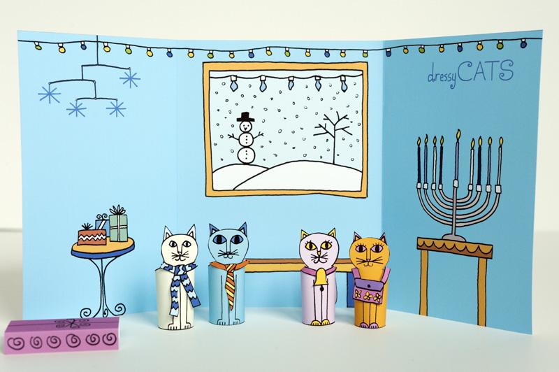 01-Made-by-Joel-Hanukkah-Holiday-Dressy-Cats-Kids-Craft-1