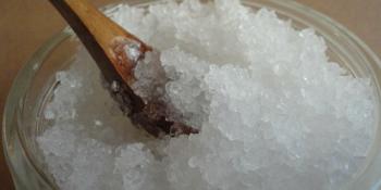 Homemade Coconut Salt Scrub
