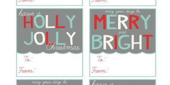 Christmas 2012 Printable Gift Tags