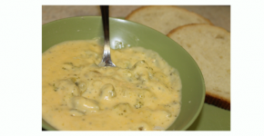 4 Ingredient Crockpot Broccoli Cheddar Soup Recipe – EASY!