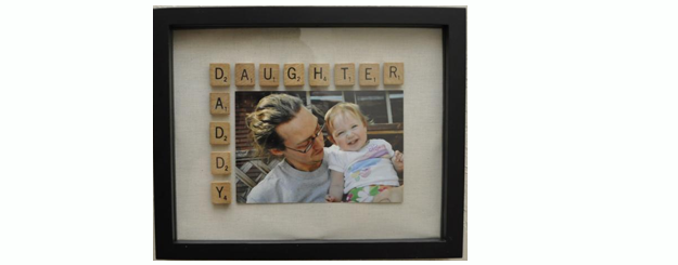 Daddy Daughter Scrabble Frame {tutorial}