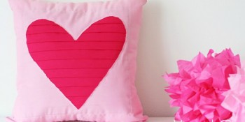 Reverse Applique Pleated Heart Tutorial