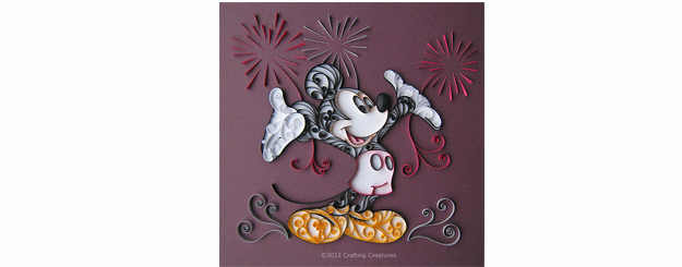 Mickey Mouse Quilled Card or Art {tutorial}