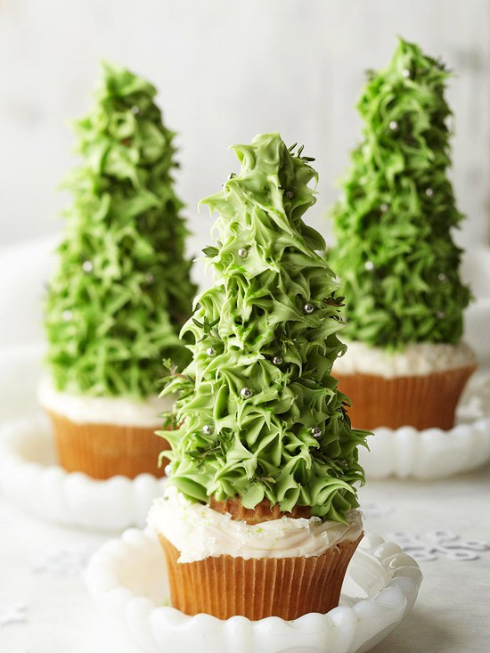 Winter Tree Cupcakes