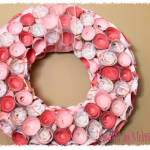 DIY Rosette Paper Wreath