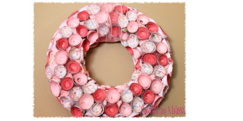 DIY Rosette Paper Wreath