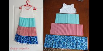 Easy Sew Girls Dress {FREE pattern}