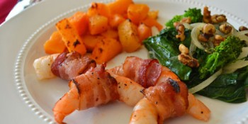 Bacon Wrapped Shrimp with Garlic Oil – eMeals recipe
