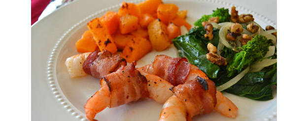 Bacon Wrapped Shrimp with Garlic Oil – eMeals recipe