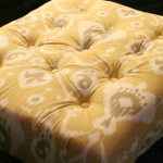 Tufted Ottoman from Upcycled Pallet {tutorial}