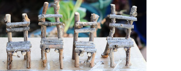 Fairy Garden Twig Chairs {tutorial}