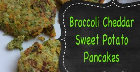 Broccoli cheddar sweet potato pancakes {Healthy Recipe}