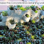 How to Make a Brick Retaining Planter Wall – WDW Style