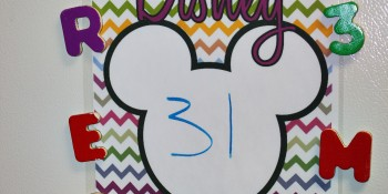 Disney Vacation Countdown Project with FREE Printable