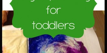 No mess finger painting for toddlers