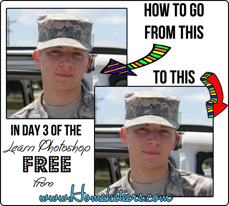 Day 3 FREE Photoshop Class – Basic Photo Editing