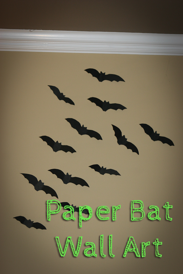 Halloween Paper Bat Wall Art {Free printables}