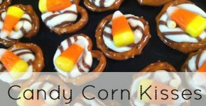 Candy Corn Kisses Pretzel Treats