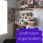 Craft Room Organization {Organization Challenge Day 21}