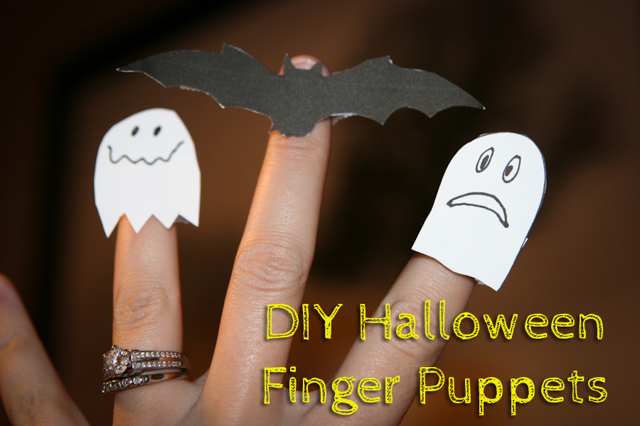 DIY Halloween Paper Finger Puppets {Tutorial}