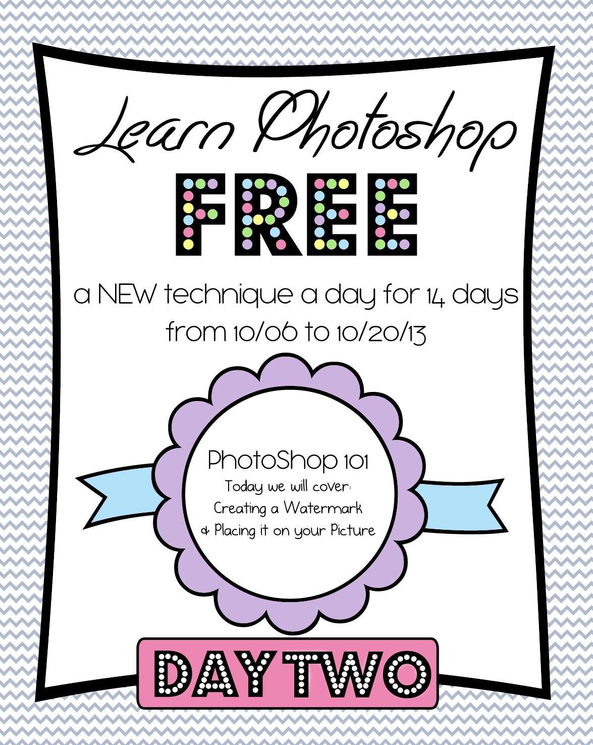 Photoshop Class Day 2 – Watermarks, how to create and place on your image