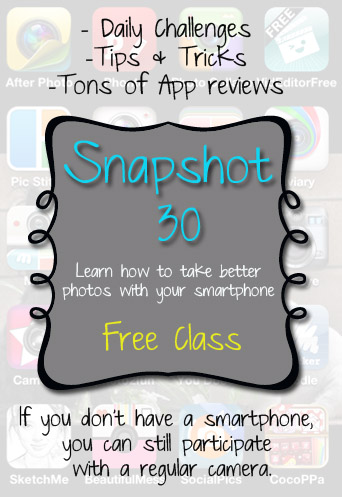 Snapshot 30 {Free class} Sign Up Now!