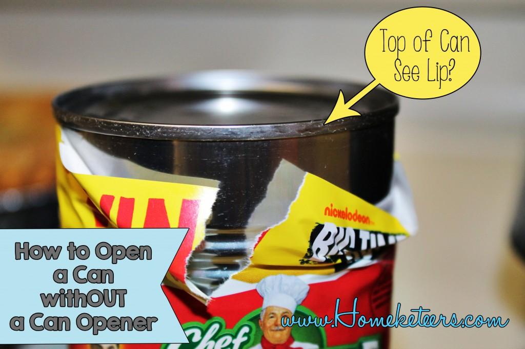 How to open a can without a Can Opener ~ #EmergencyPreparedness #Survival #Camping