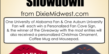 Alabama V. Auburn Giveaway – Choose your Side!