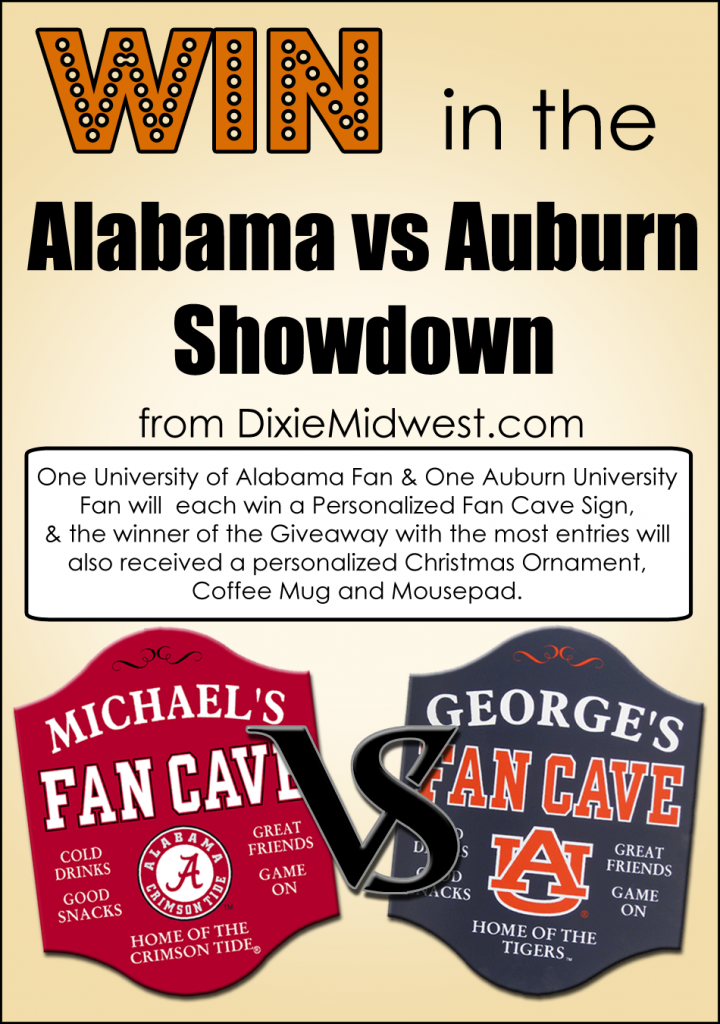 Alabama v Auburn Fan Giveaway #Win #Giveaway #CrimsonTide #Tigers #RollTide