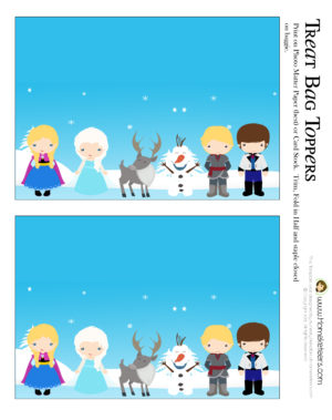 Frozen Themed Party Printable Set FREE ~ Homeketeers ~ #Free #Printables #Frozen #Party