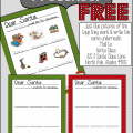 Dear Santa Preschool Letter Free Printable