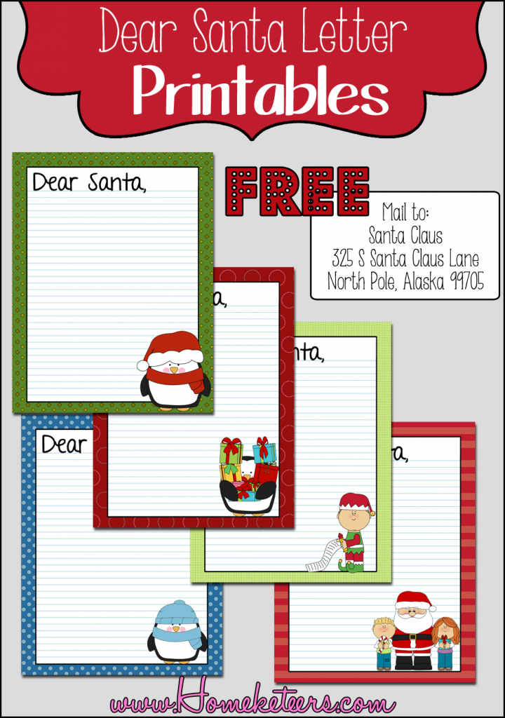 Dear Santa Letter ~FREE Printable