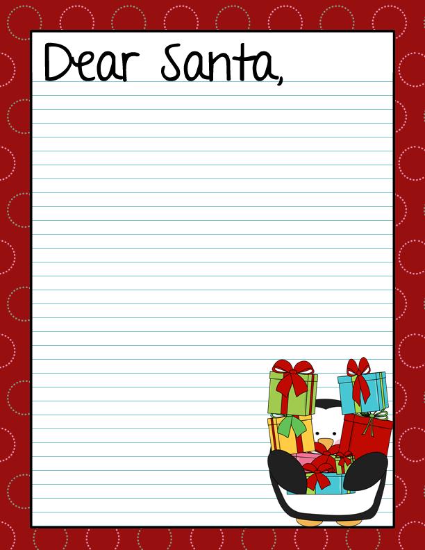 Printable Dear Santa Letter Page 2 New Calendar Template
