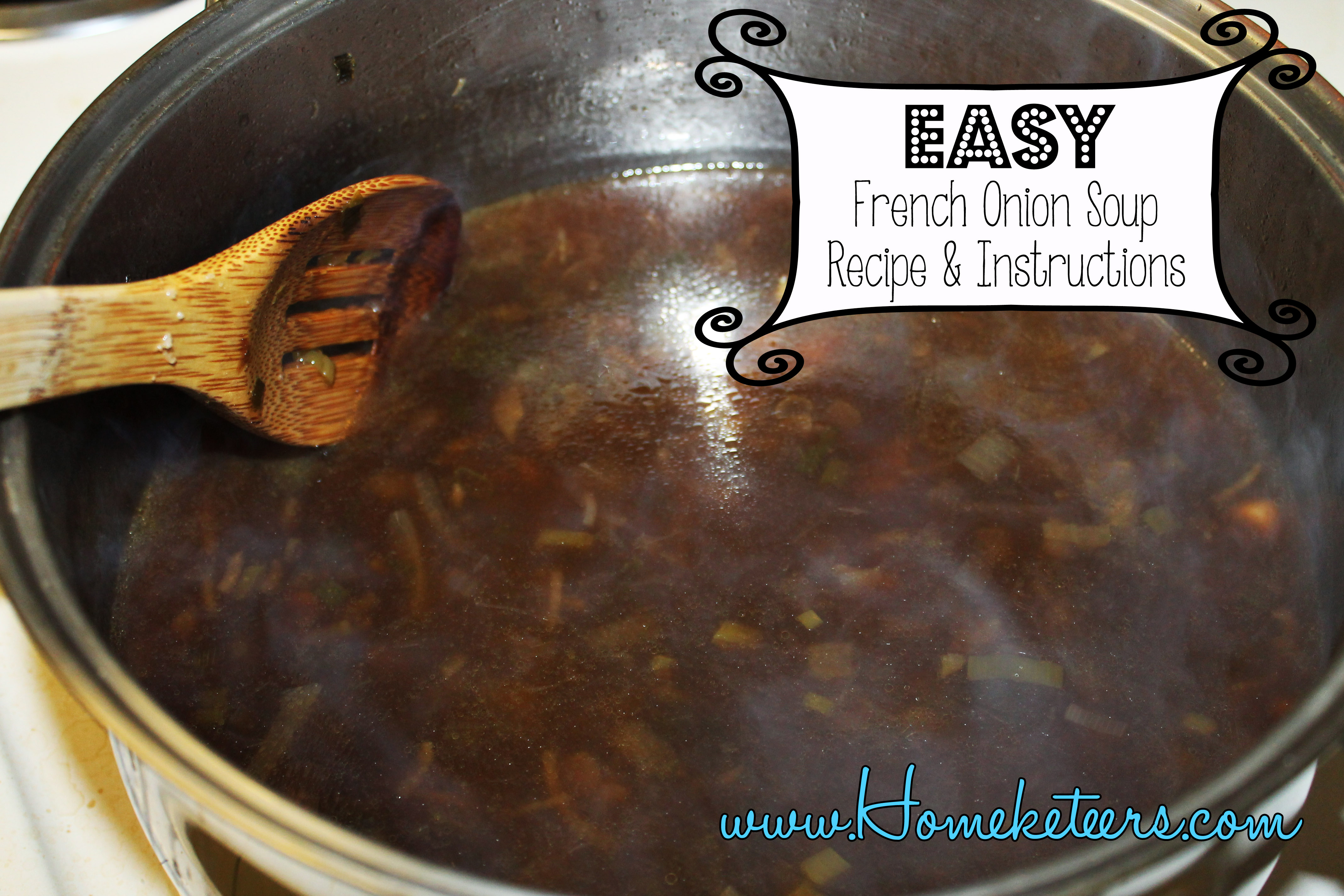 Easy French Onion Soup & Hamburger French Dip Recipe