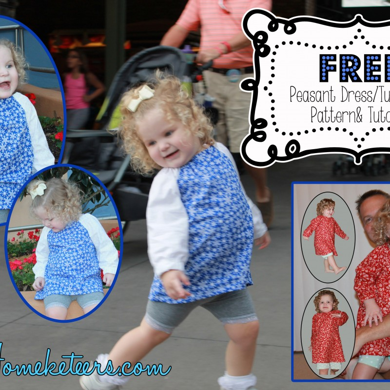 Sew a Girls Peasant Dress/Top ~ Free Pattern & Instructions