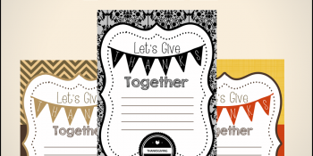 Thanksgiving Invitation Printables ~ FREE