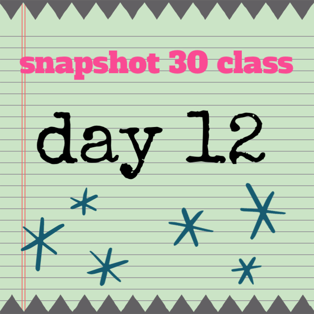Snapshot 30 Class: Learn How to Take Better Photos {Day 12}
