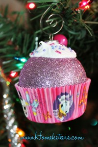 Cupcake Christmas Ornament - How To