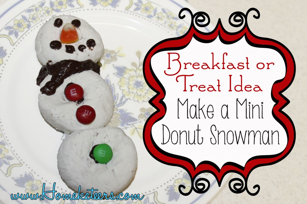 Make a Mini Donut Snowman #Breakfast #Christmas #Kids