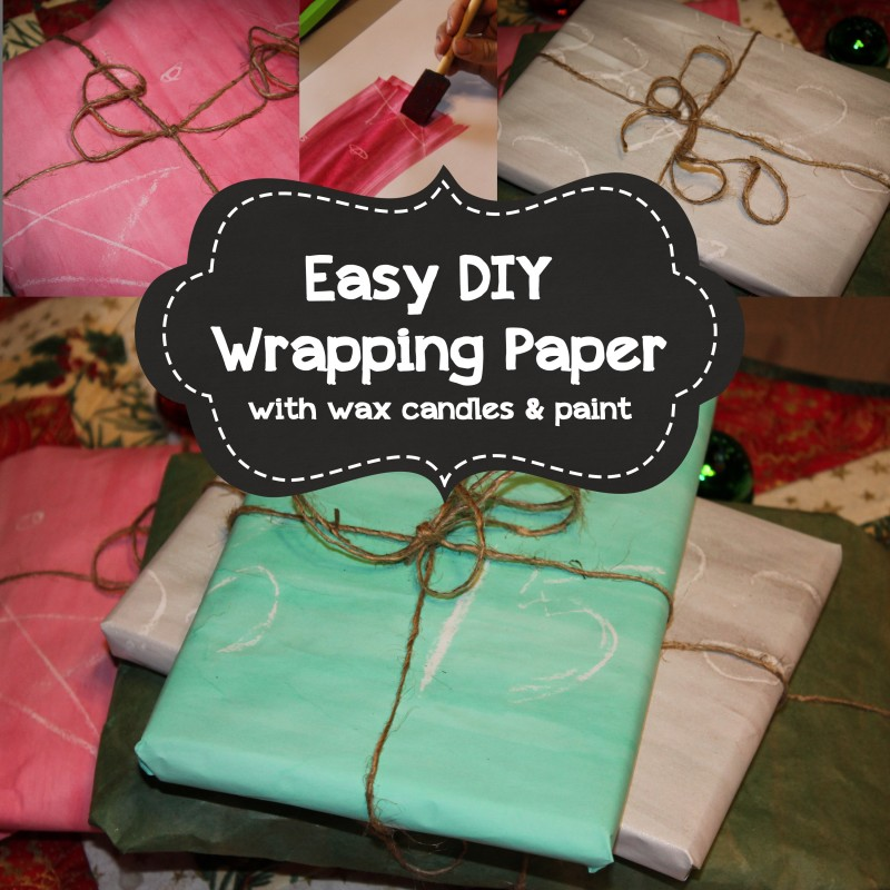 DIY Wrapping Paper (Using a Resist Technique)