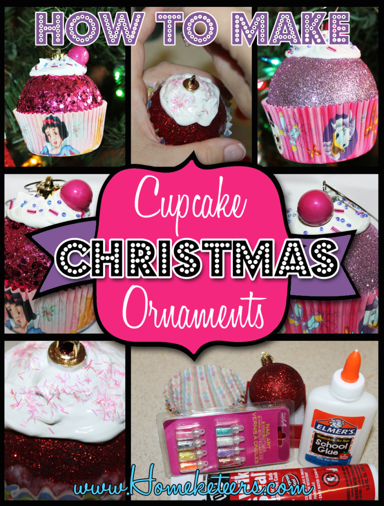 How to Make Cupcake Christmas Ornaments #Christmas #DIY