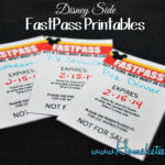 Show Your Disney Side with FastPass Printables #DisneySide